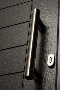 Black Modern Composite Doors Waterlooville